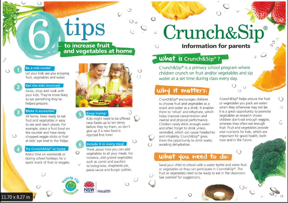 Crunch and Sip tips